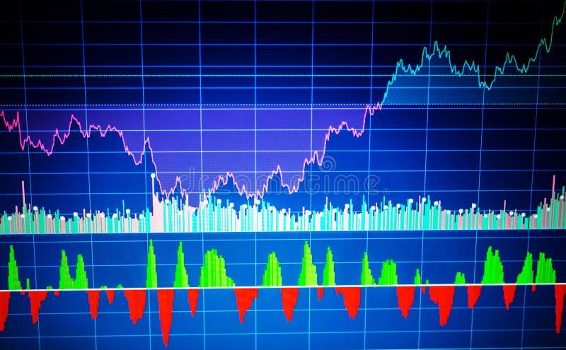 Sucesso de negócio e conceito do crescimento Gráfico de negócio do mercado de valores de ação ilustração stock