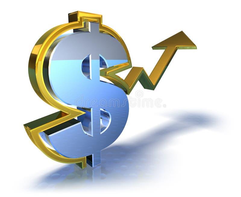 Sucesso do dólar ilustração do vetor