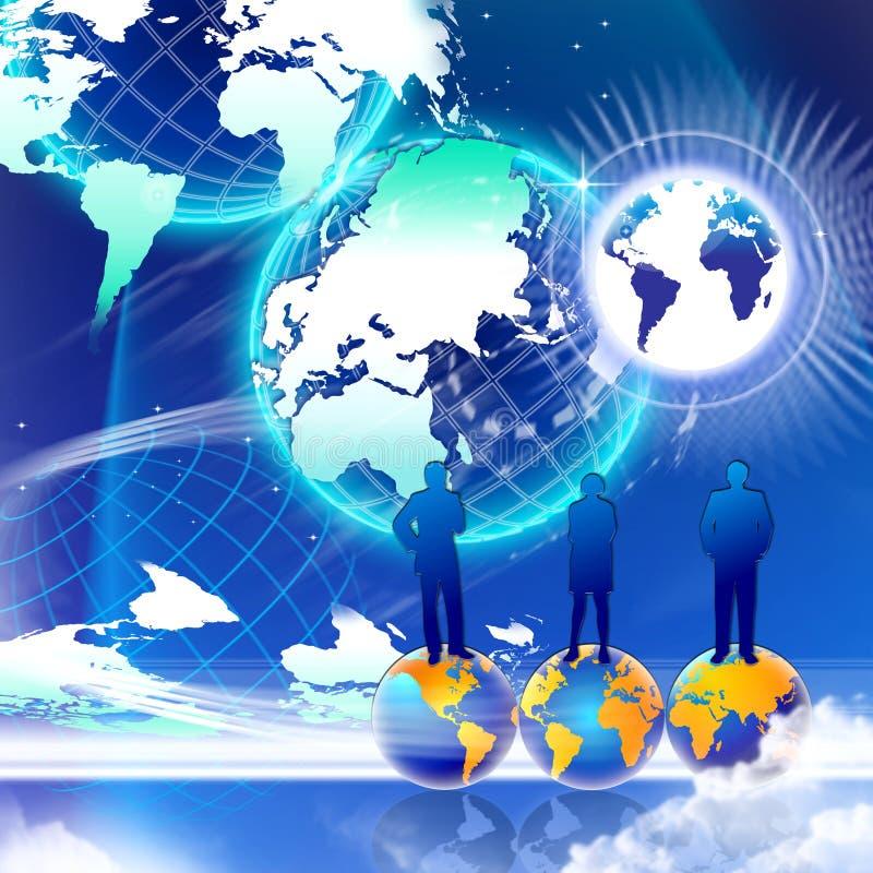 Sucesso do mundo do mercado ilustração royalty free