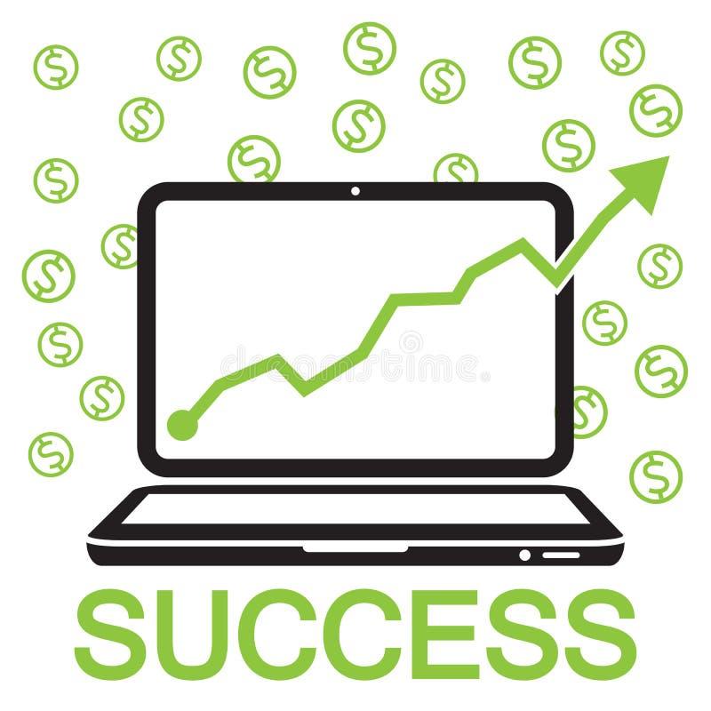 sucesso em linha do negócio ilustração stock