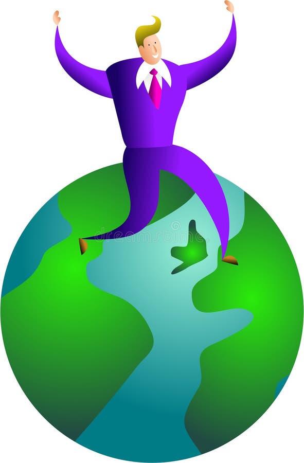 Sucesso global ilustração stock