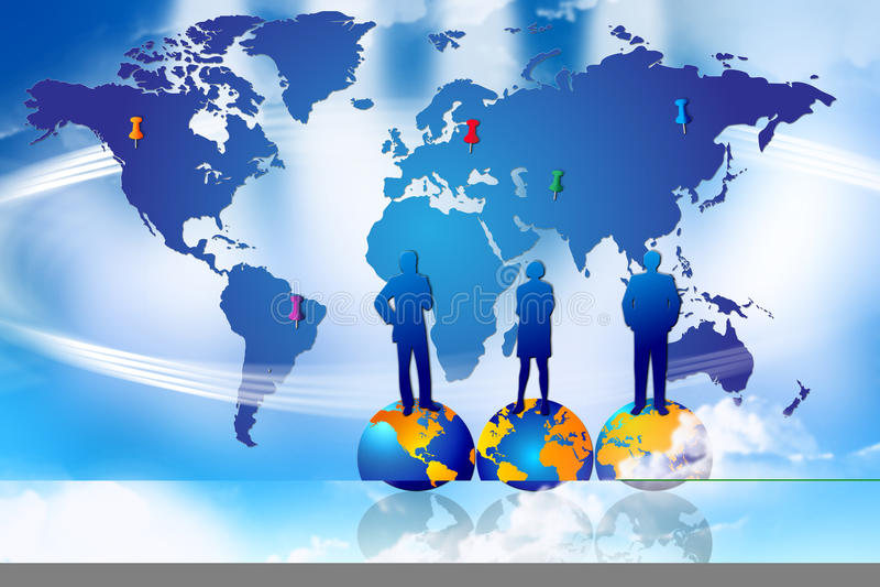 Sucesso global da planta de mercado ilustração do vetor