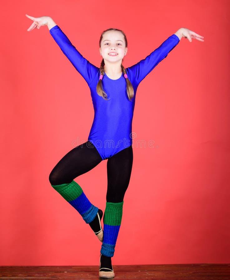Sucesso Ilustração do bailado dancer Atividade da infância gymnastics Desportista feliz da criança Exercício do gym da acrobacia  foto de stock