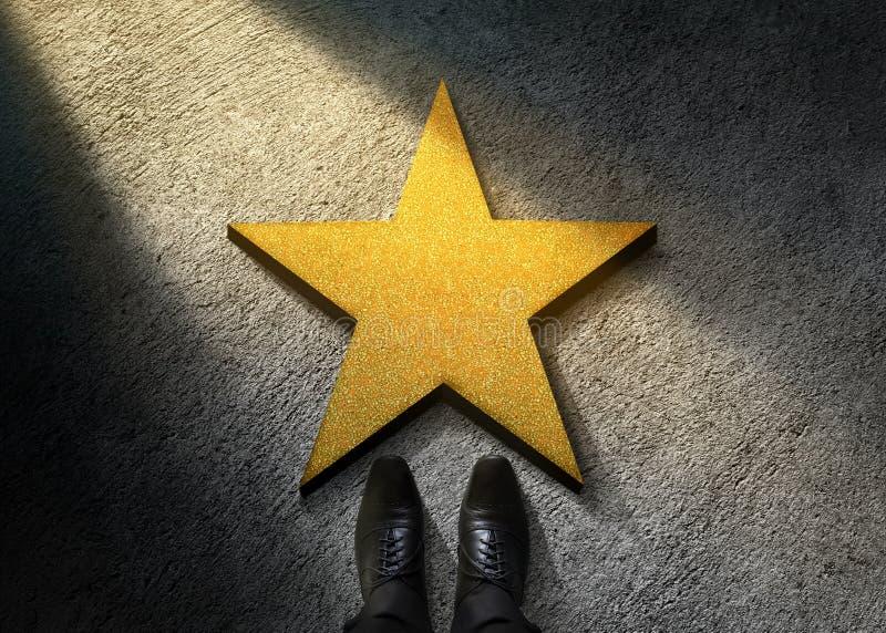 Sucesso no negócio ou no conceito pessoal do talento Vista superior de Busi imagens de stock royalty free