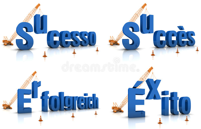 Sucesso Succes Erfolgreich Exito stock illustratie