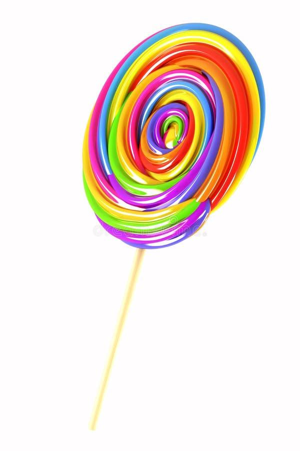 Sucette colorée de sucrerie illustration libre de droits