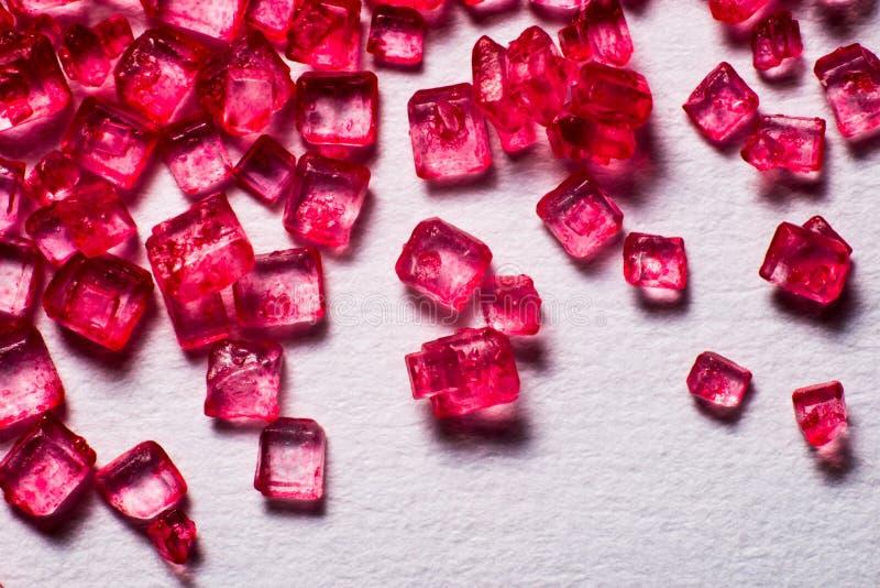 Sucettes en cristal rouges images stock
