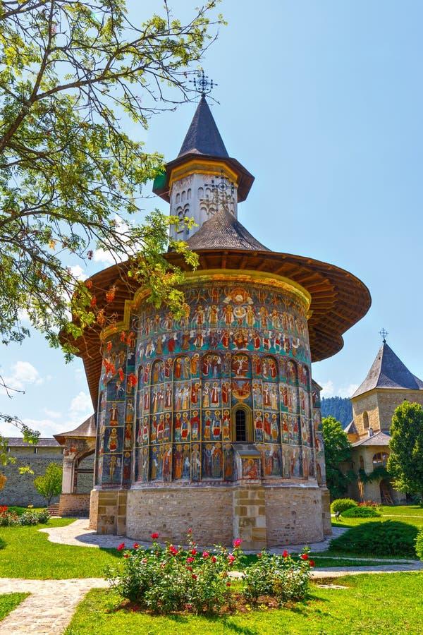 Sucevita修道院,罗马尼亚 免版税库存照片