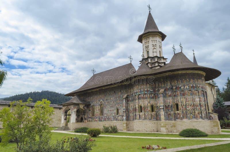 Sucevita修道院-罗马尼亚- Bucovina 免版税库存图片