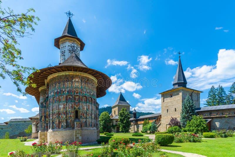 Sucevita orthodox klooster royalty-vrije stock foto's