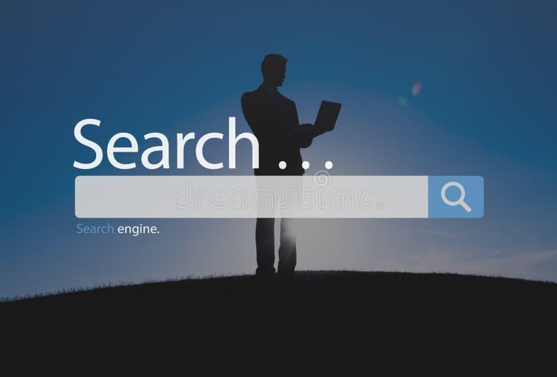 Such-Seo Online Internet Browsing Web-Konzept lizenzfreies stockfoto