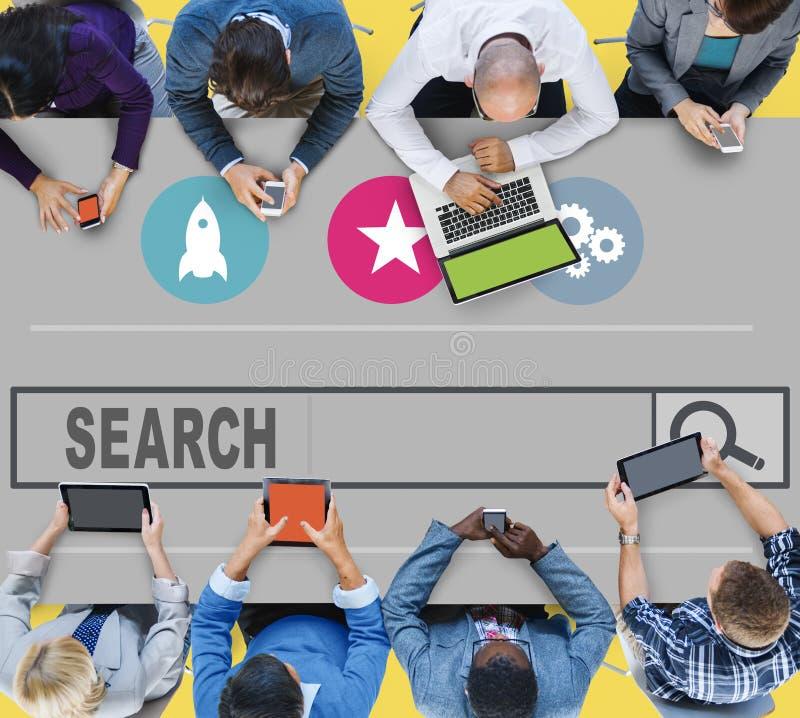 Suche, die Seo Online Internet Browsing Web-Konzept sucht stockfoto
