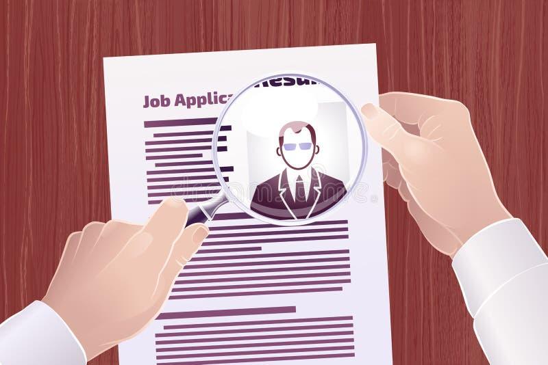 Suche Job Applications /Resume lizenzfreie abbildung
