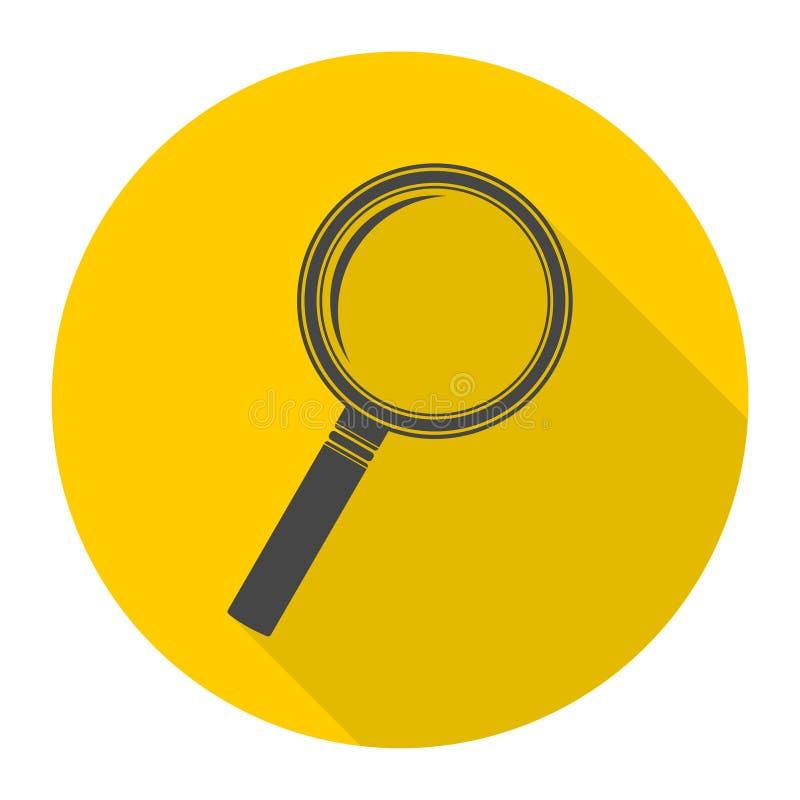 Suche-Lupa-Ikone stock abbildung