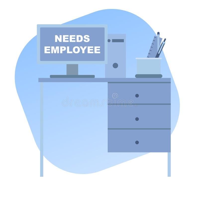 Suche nach einem neuen Angestellten lizenzfreie abbildung