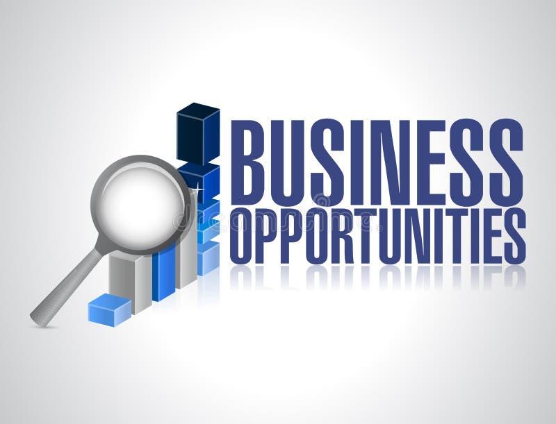 Suche nach Geschäftschancen. Diagrammforschung lizenzfreie abbildung