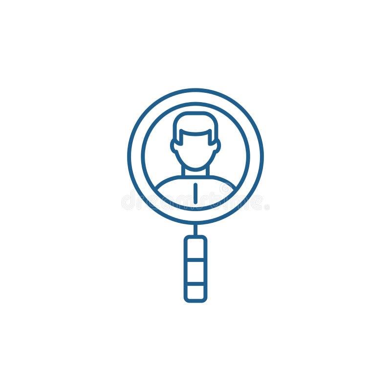Suche nach Kollegen zeichnen Ikonenkonzept Suche nach flachem Vektorsymbol der Kollegen, Zeichen, Entwurfsillustration vektor abbildung