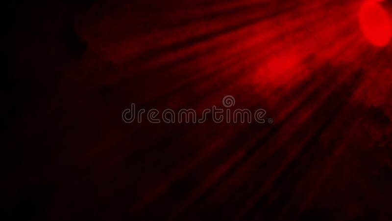Suchego lodu dymnych chmur mgły podłogi czerwona tekstura Doskonali? ?wiat?o reflektor?w mg?y skutek na odosobnionym czarnym tle zdjęcia royalty free
