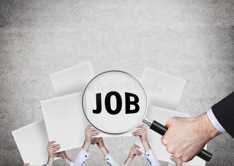 Suchen des Jobs stockfoto