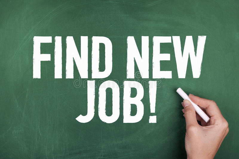 Suchen des neuen Jobs stockfoto