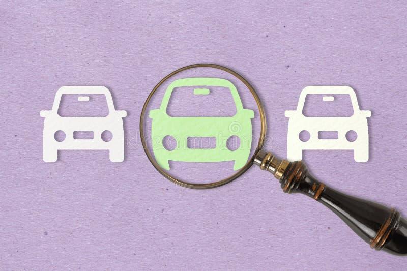 Suchen nach Autos stockbild