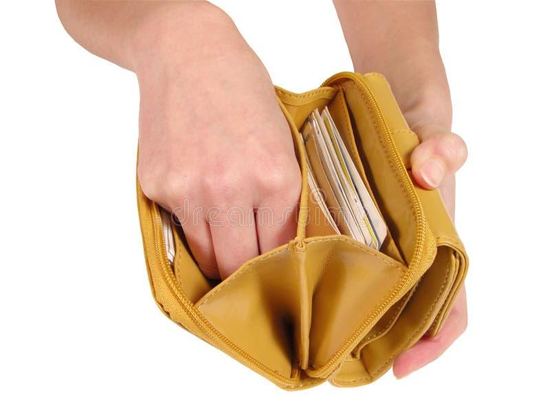 Suchen nach dem Geld stockfotografie