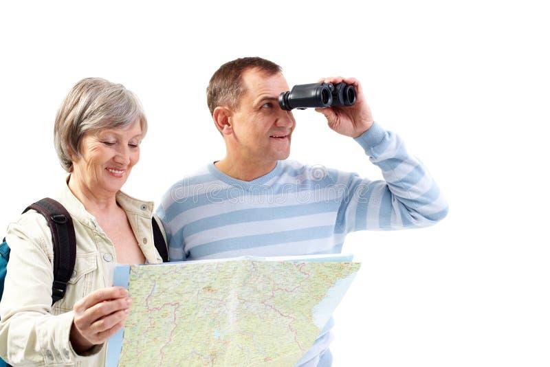 Suchen nach dem Reisen stockfotos