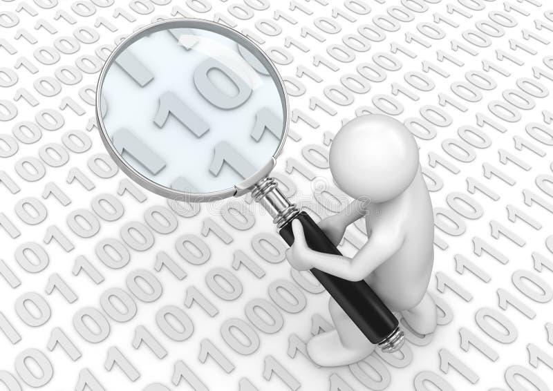 Suchen nach irgendeinem binärem Code lizenzfreie abbildung