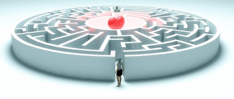 Suchen nach Liebe stock abbildung