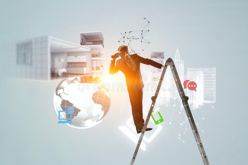 Suchen nach neuen Geschäftslösungen lizenzfreie abbildung