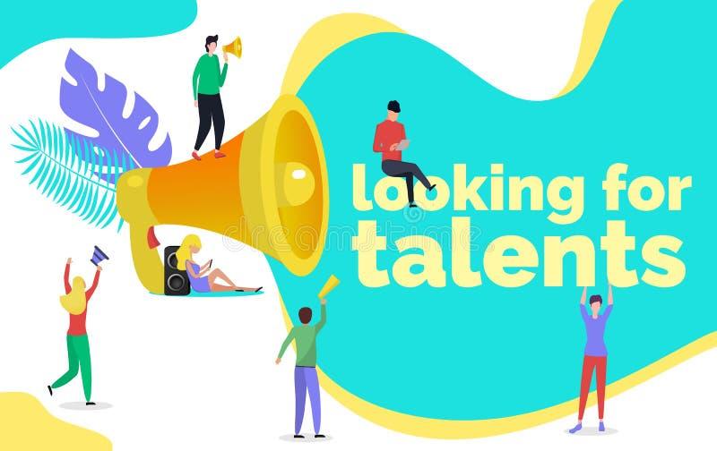 Suchen nach Talentillustrationskonzept lizenzfreie abbildung
