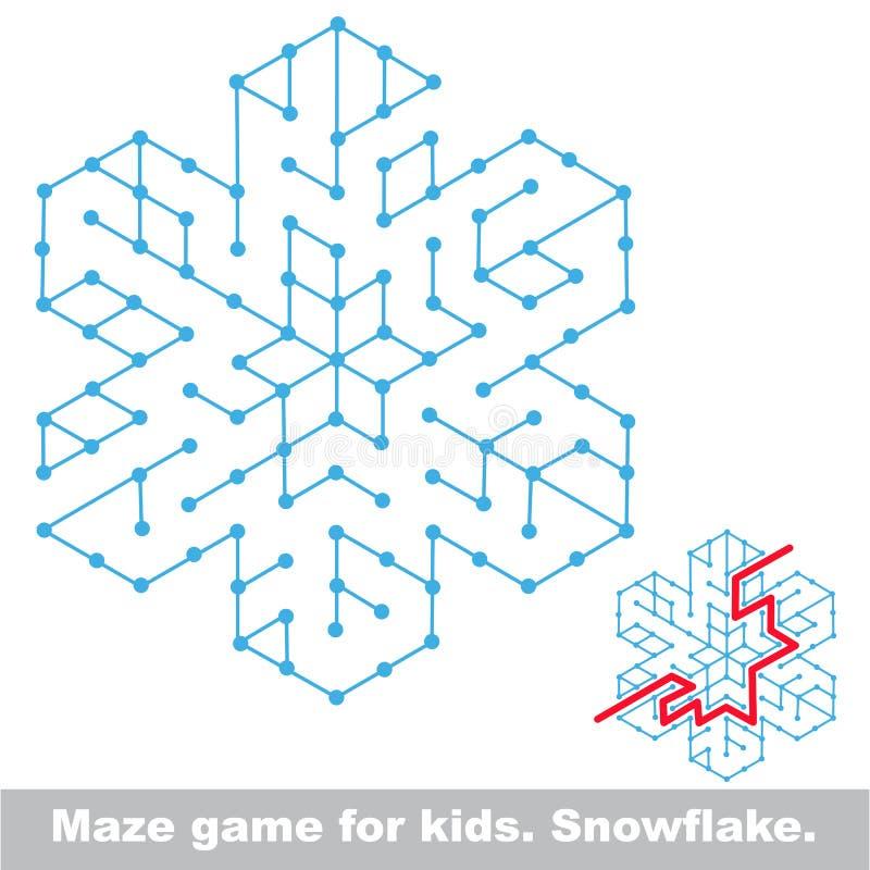 Suchen Sie die Weise Kinderlabyrinthspiel stock abbildung