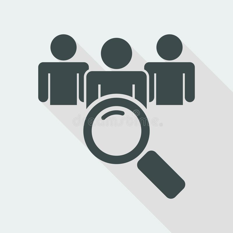 Suchen von Leuten vektor abbildung