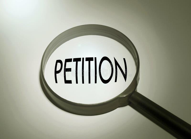 Suchen von Petition lizenzfreie stockbilder