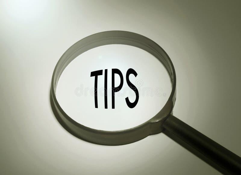 Suchen von Tipps stockfotografie