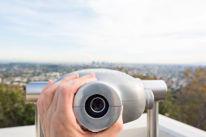 Sucher bei Griffith Observatory lizenzfreie stockfotos