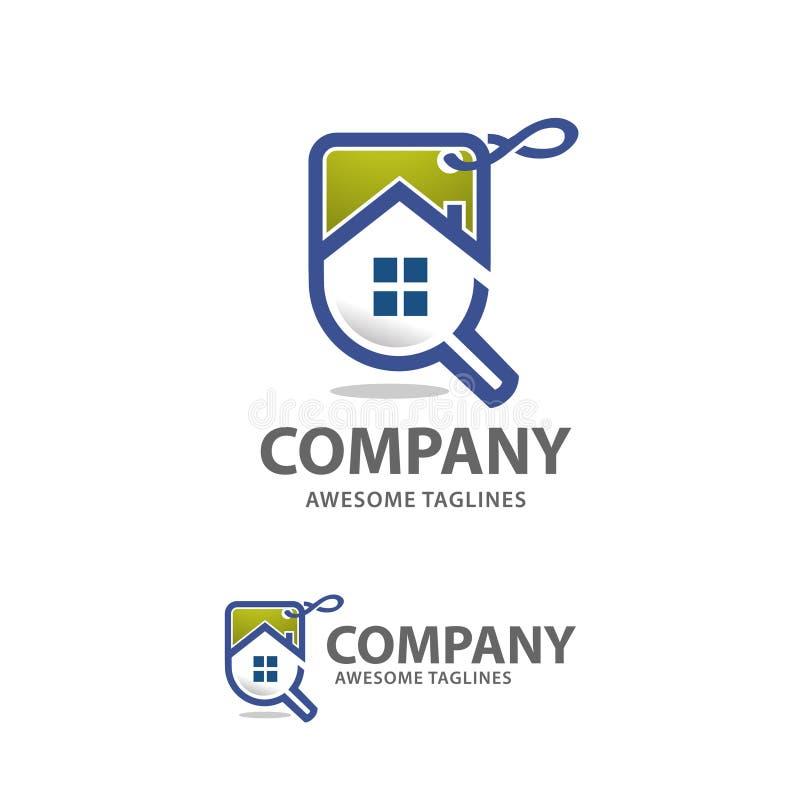 Suchinlandsverkäufe-Logovektor lizenzfreie abbildung