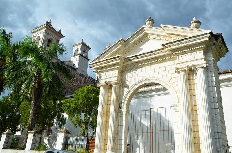 Suchitoto´s cathedral, in El Salvador royalty free stock photography