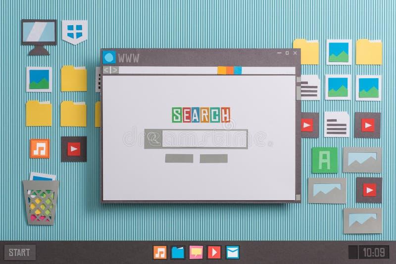 Suchmaschinehomepage stockbild