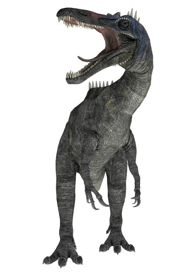 Suchomimus tenerensis royaltyfri illustrationer