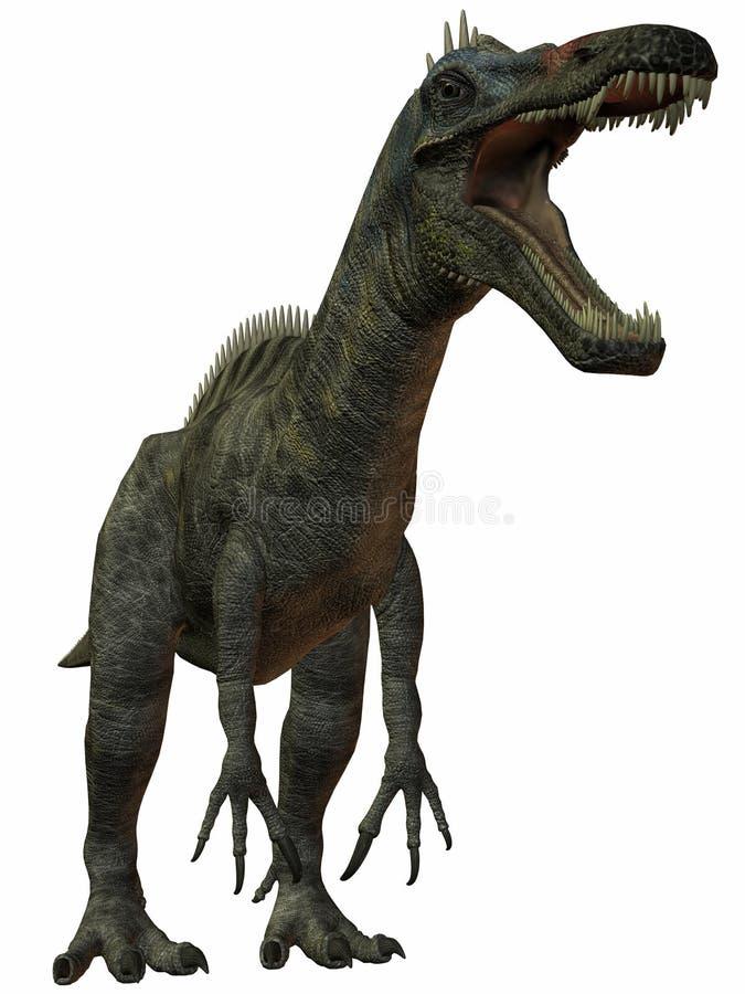 suchomimustenerensis för dinosaur 3d royaltyfri illustrationer