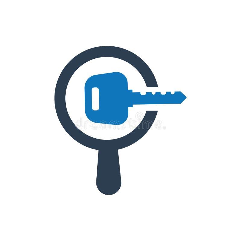 Suchschlüsselwort-Ikone lizenzfreie abbildung