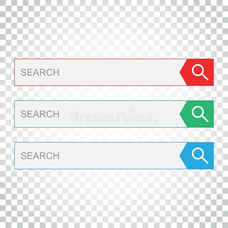 Download Suchstangenfeld Stellen Sie Vektorschnittstellenelemente Mit Suchkolben Ein Vektor Abbildung - Illustration von suche, vergrößerungsglas: 96935721