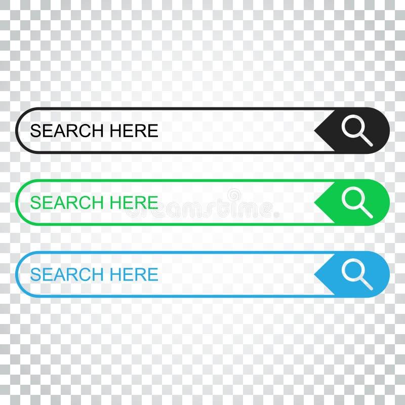 Download Suchstangenfeld Stellen Sie Vektorschnittstellenelemente Mit Suchkolben Ein Vektor Abbildung - Illustration von ikone, fahnen: 96935754