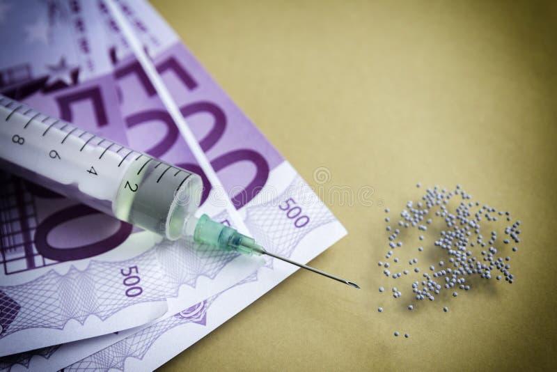 Sucht- und Drogenmissbrauchkonzept lizenzfreie stockfotografie