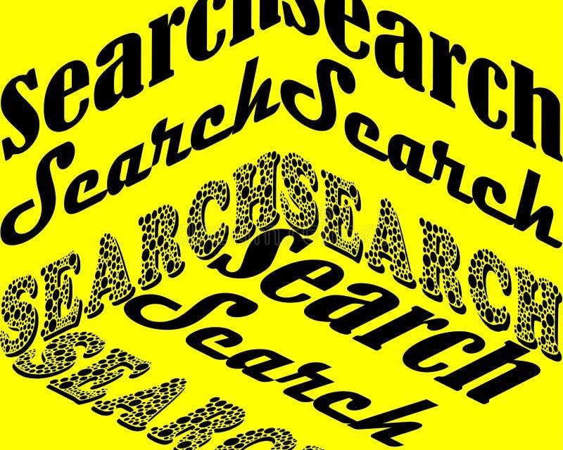 Suchvektorbeschriftung Handgeschriebener Textaufkleber Freihändige Typografie vektor abbildung