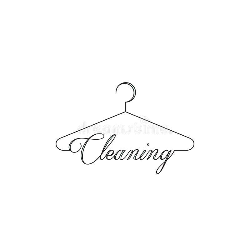 Suchy Cleaning i pralni firma usługowa ilustracja wektor