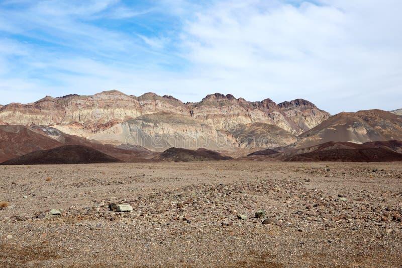 Suchy jałowy krajobraz Śmiertelna dolina, Nevada, usa fotografia stock
