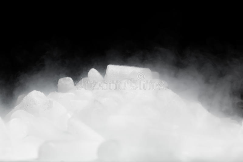 Suchy lód z opary zdjęcia royalty free