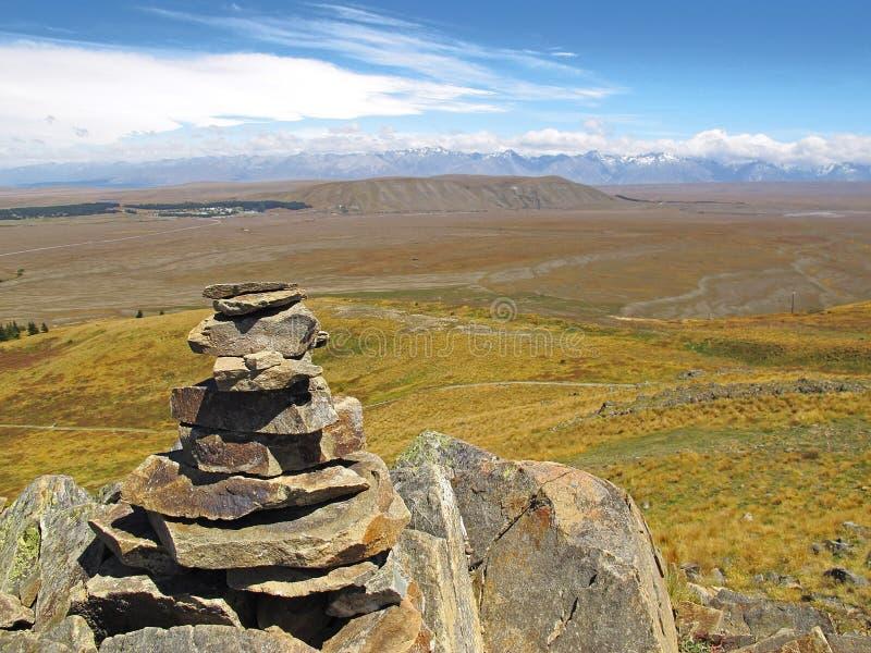 Suchy Nowa Zelandia krajobraz zdjęcia royalty free